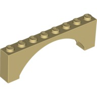 Tan Brick, Arch 1 x 8 x 2 Raised Arch  6079724