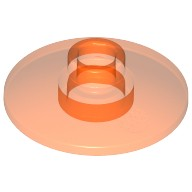 Trans-Neon Orange Dish 2 x 2 Inverted (Radar)  3006347