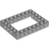 Light Bluish Gray Technic, Brick 6 x 8 Open Center  4211848
