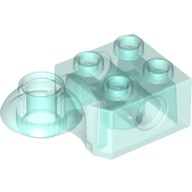 Trans-Light Blue Technic, Brick Modified 2 x 2 with Pin Hole, Rotation Joint Ball Half (Horizontal Top)  6032799