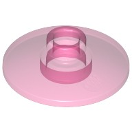 Trans-Dark Pink Dish 2 x 2 Inverted (Radar)  4129859