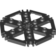 Black Technic, Plate Rotor 6 Blade with Clip Ends Connected (Water Wheel)  4539442