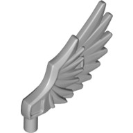 Light Bluish Gray Minifig, Wing Feathered  6074698