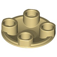 Tan Plate, Round 2 x 2 with Rounded Bottom (Boat Stud)  4140561 or 4278422