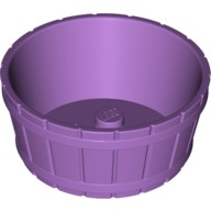Medium Lavender Container, Barrel Half Large with Axle Hole  4651908