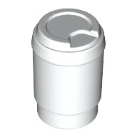 White Minifig, Utensil Cup, Take Out Cup  6052312