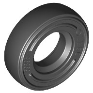 Black Tire 14mm D. x 4mm Smooth Small Single - New Style - with Number Molded on Side  4516843
