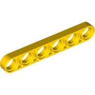 Yellow Technic, Liftarm 1 x 6 Thin  4141495 or 6063252