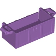 Medium Lavender Container, Treasure Chest Bottom - Slots in Back  6056226