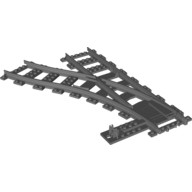 Dark Bluish Gray Train, Track Plastic (RC Trains) Switch Point Left  4293594 or 4516092 or 6085213