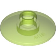 Trans-Bright Green Dish 2 x 2 Inverted (Radar)  6057005