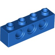 Blue Technic, Brick 1 x 4 with Holes  370123