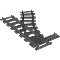 Dark Bluish Gray Train, Track Plastic (RC Trains) Switch Point Right  4293593 or 4516101 or 6085188