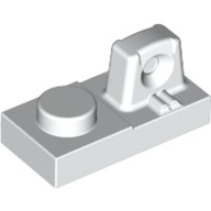 White Hinge Plate 1 x 2 Locking with 1 Finger On Top  4213031 or 4262011