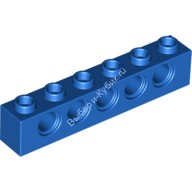 Blue Technic, Brick 1 x 6 with Holes  389423