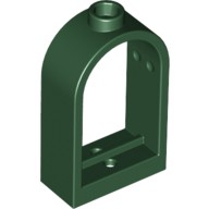 Dark Green Window 1 x 2 x 2 2/3 with Rounded Top  6003056