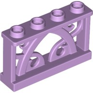 Lavender Fence Ornamental 1 x 4 x 2 with 4 Studs  6112976