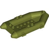 Olive Green Boat, Rubber Raft, Small  6016453