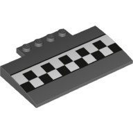 Dark Bluish Gray Slope, Curved 5 x 8 x 2/3 with Checkered Pattern  6186670