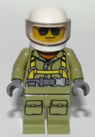 Volcano Explorer - Male Worker, Suit with Harness, White Helmet, Trans-Black Visor, Sunglasses (60123)