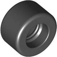 Black Tire 14mm D. x 9mm Smooth Small Wide Slick  3002826 or 4508215