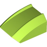 Lime Slope, Curved 2 x 2 Lip, No Studs  4165841 or 6129278