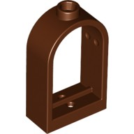 Reddish Brown Window 1 x 2 x 2 2/3 with Rounded Top  4224625 or 4542131
