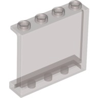 Trans-Black Panel 1 x 4 x 3 with Side Supports - Hollow Studs  4570398