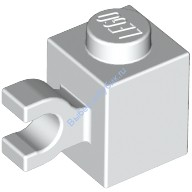 White Brick, Modified 1 x 1 with Clip Horizontal  4567891