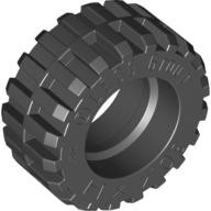 Black Tire 30.4 x 14 Offset Tread - Band Around Center of Tread  4619323