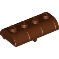 Reddish Brown Container, Treasure Chest Lid - Thick Hinge  4211163 or 6167676