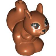 Light Bluish Gray LEGO Duplo Squirrel with Black and White Eyes Pattern