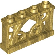 Pearl Gold Fence 1 x 4 x 2 Ornamental with 4 Studs  6097234