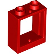 Red Window 1 x 2 x 2 Flat Front  4521438