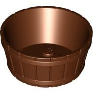 Reddish Brown Container, Barrel Half Large with Axle Hole  4541875