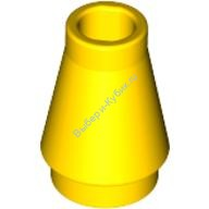 Yellow Cone 1 x 1 with Top Groove  4525464