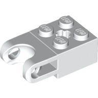 White Technic, Brick Modified 2 x 2 with Ball Receptacle Wide and Axle Hole  4619762 or 6021315