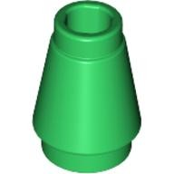 Green Cone 1 x 1 with Top Groove  4529239