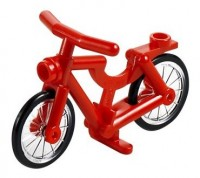 Red Bicycle, Complete Assembly (1-Piece Wheels)