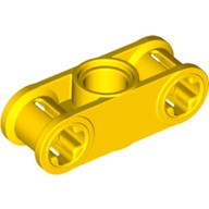 Yellow Technic, Axle and Pin Connector Perpendicular 3L with Center Pin Hole  4125498 or 6037676