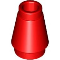 Red Cone 1 x 1 with Top Groove  4529234