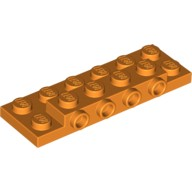 Orange Plate, Modified 2 x 6 x 2/3 with 4 Studs on Side  4648854 or 6224787