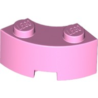 Bright Pink Brick, Round Corner 2 x 2 Macaroni with Stud Notch and Reinforced Underside  6022039