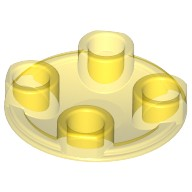 Trans-Yellow Plate, Round 2 x 2 with Rounded Bottom (Boat Stud)  4214760 or 4278415