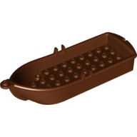Reddish Brown Boat, 14 x 5 x 2 with Oarlocks and 2 Hollow Inside Studs