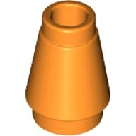 Orange Cone 1 x 1 with Top Groove  4518029