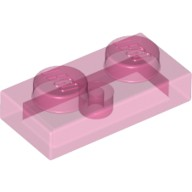 Trans-Dark Pink Plate 1 x 2  6172369 or 6240228