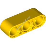 Yellow Technic, Liftarm 1 x 3 Thick  4153707