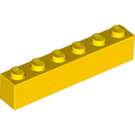 Yellow Brick 1 x 6  300924