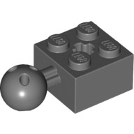 Dark Bluish Gray Technic, Brick Modified 2 x 2 with Ball and Axle Hole with 6 Holes in Ball  4497253